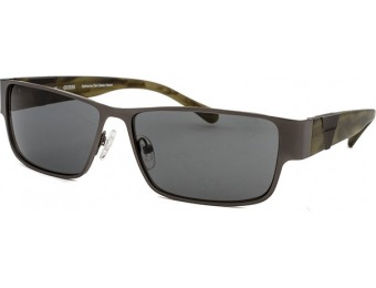 81% off Guess Rectangle Gunmetal Sunglasses