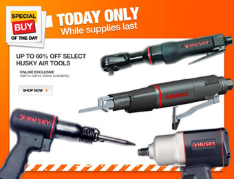 Up to 60% off Select Husky Air Tools at Home Depot