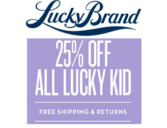 Extra 25% off Luck Brand Kid Clothes