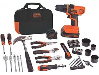 $110 off Black+Decker 20V MAX Lithium-Ion Drill and Project Kit