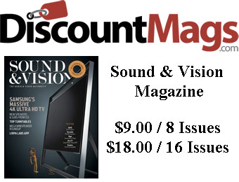 82% off Sound & Vision Magazine Subscription, $9 / 8 Issues
