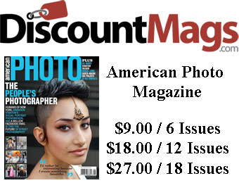 70% off American Photo Magazine Subscription, $9 / 6 Issues