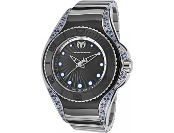 61% off TechnoMarine Blue Manta Two-Tone Diamond Ceramic Watch