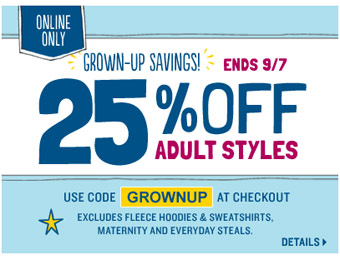 Extra 25% off All Adult Styles at Old Navy w/code: GROWNUP