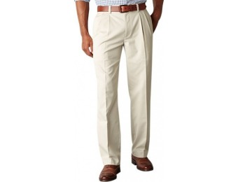 80% off Men's Dockers Easy Khaki D3 Classic-Fit Pleated Pants