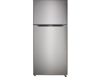$150 off Insignia 18 CF Top-Freezer Refrigerator - Stainless Steel