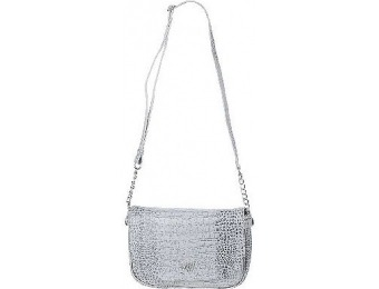 69% off Wendy Williams Croco Leather Shoulder Bag