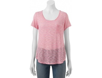 80% off Juniors' Wallflower Hatchi Striped Pocket T-Shirt