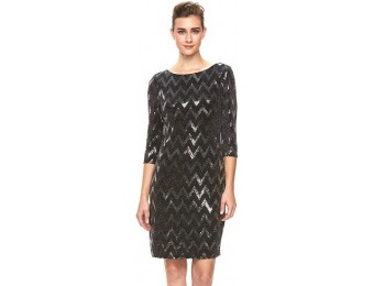 70% off Women's Chaya Sequin Chevron Dress