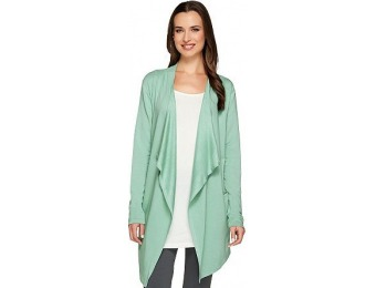 68% off LOGO Lounge French Terry Drape Front Cardigan