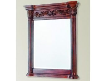 "$131 off Pegasus Estates 34"" x 28"" Framed Mirror, Rich-Mahogany"
