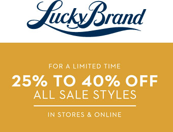 Up to Extra 40% off All Sale Styles at Lucky Brand