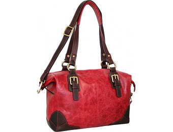 72% off Nino Bossi Soho Leather Satchel, Red