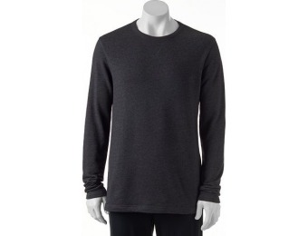 80% off Men's Apt. 9 French Terry Crew, Size: Large, Dark Grey