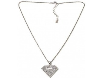 "75% off Superman Pave Logo 18"" Drop Necklace"