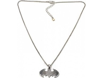 "75% off Batman Pave Logo Pendant with 18"" Chain"
