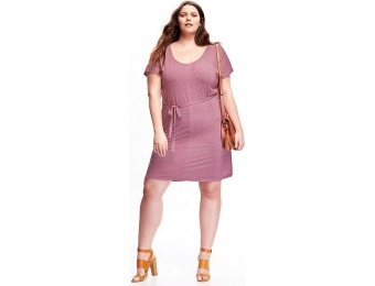 75% off Old Navy Tie Belt Jersey Plus Size Dress