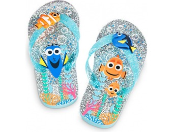 88% off Finding Dory Flip Flops for Kids - Glitter