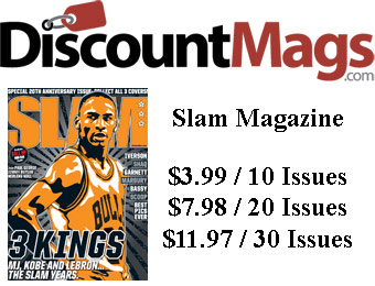 92% off Slam Magazine Annual Subscription, $3.99 / 10 Issues