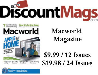 88% off Macworld Magazine Annual Subscription, $9.99 / 12 Issues