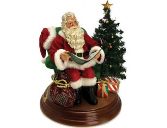 "50% off Kurt Adler Fabriche 8"" Story Telling Santa with Sound"
