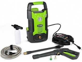 $37 off GreenWorks 1500 PSI 1.2 GPM Electric Pressure Washer