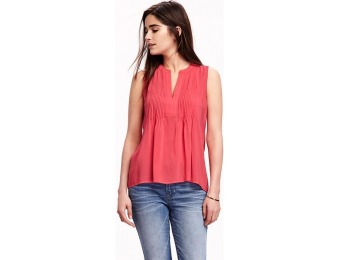 74% off Old Navy Pintuck Swing Tank For Women