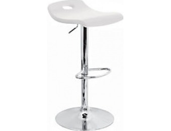 74% off LumiSource Surf Bar Stool, 36in.H, Chrome/White