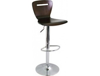 71% off LumiSource H2 Bar Stool, 41in.H, Chrome/Espresso