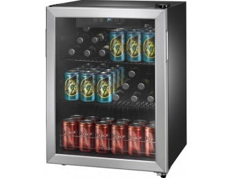 $150 off Insignia 78-Can Beverage Cooler - Stainless Steel
