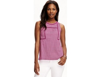75% off Old Navy Crochet Trim Trapeze Tank For Women