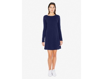 50% off Shirt Dress Power Wash Long Sleeve, Navy