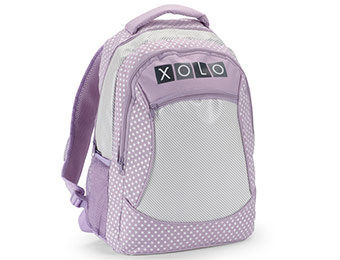 "53% off XOLO Girls' Polka-Dots and Stripes Print 16"" Backpack"