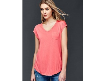 68% off Gap Women Cap Sleeve Pocket Tee