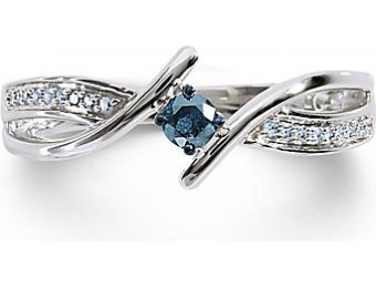 86% off 1/7Cttw. Blue Diamond Promise Ring