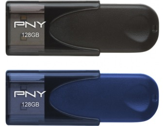 $35 off PNY Attaché 128GB USB 2.0 Flash Drives (2-Pack)