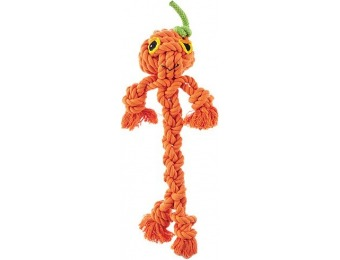 75% off Halloween Braided Rope Pumpkin Guy Dog Toy, 12""