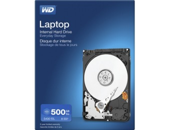 38% off WD Mainstream 500GB Internal Hard Drive for Laptops
