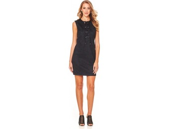 84% off Sharagano Lace Up Neck Sleeveless Dress