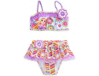 88% off Rapunzel Deluxe Swimsuit for Girls - 2-Piece