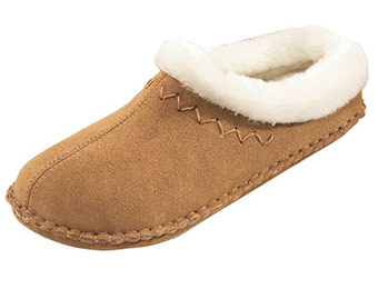 $20 off Women's Crepe Slide Slippers (5 color choices) Elegant suede with luxurious fleece lining