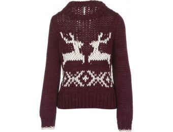 75% off Free People Dancer & Prancer Pullover Sweater - Women's