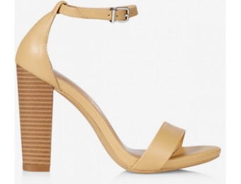 41% off Express Womens Faux Leather Stacked Heel Sandal