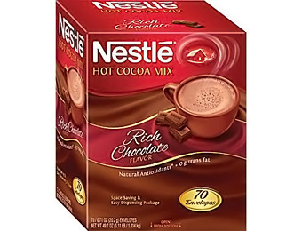 60% off Nestle Instant Hot Cocoa Mix, Rich Chocolate, 70 Packets