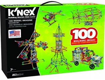 50% off K'NEX 100 Model Building Set - 863 Pieces