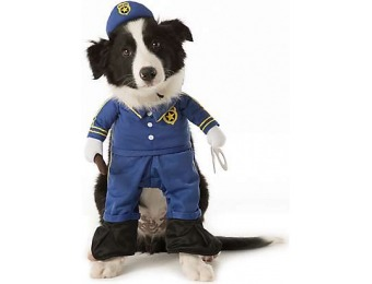 74% off Pet Halloween Stand Up Police Pet Costume