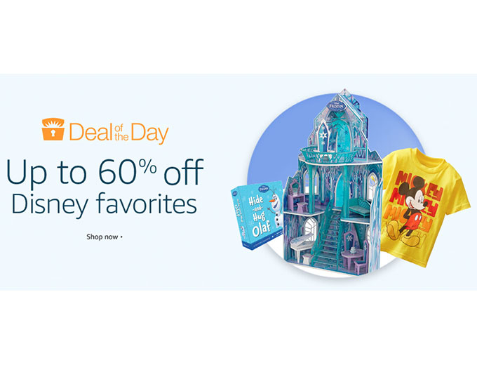 Up to 60% off Disney Products