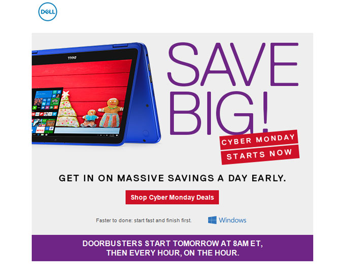 Shop Dell Cyber Monday Deals