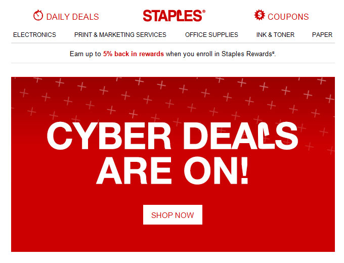 Staples Cyber Monday Deals