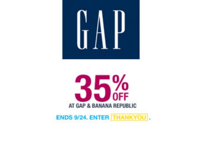 Extra 35% off Sitewide at Gap.com